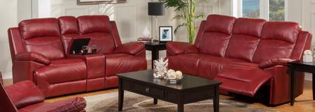 2224432redsl Cortez 2 Piece Power Reclining Living Room Set With Sofa And Loveseat In