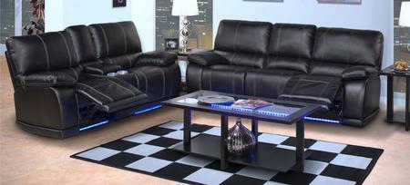 2238232mbksl Electra 2 Piece Power Recline Living Room Set With Sofa And Loveseat In