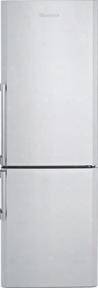 "Brfb1152ssn 24"" 9.84 Cu. Ft. Capacity Bottom Fre Ezer Refrigerator By The Side Of Field Reversible Hinge Auto Defrost Ice Cube Tray Fast-freeze Function Antibacterial"