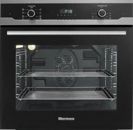 "Bwos24202 24"" Single Electric Wall Oven With 2.3 Cu Ft. Oven Capacity True European Convection Oven And 3 Pane Heat Resistant Glass In"