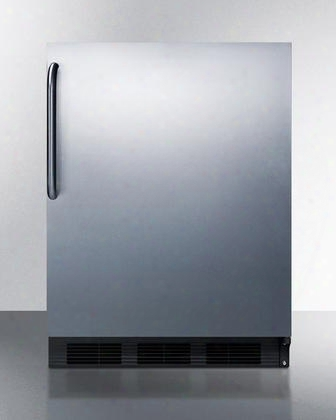 "Ct663bcss 24"" Undercounter Refrigerator With 5.1 Cu. Ft. Capacity Cycle Defrost Zero Degree Freezer And Stainless Steel Door And Cabinet/towel Bar"