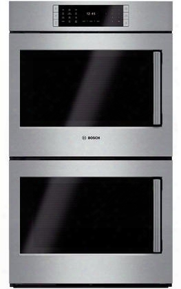 "Hblp651luc 30"" Double Wall Oven With 4.6 Cu. Ft. Capacity Ovens Left Sideopening Door 14 Cooking Modes Steeltouch Buttons Self-clean Autoprobe And Star-k"