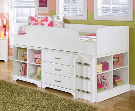 Lulu B10268t17set3 Set With Twin Loft Bed Bin Storage And Drawer Storage In