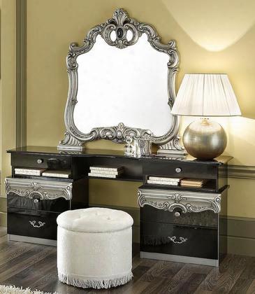 Vgcaboroccoblk-vdr Barocco - Modern Glossy Black Vanity