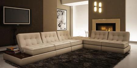 Vgev5055 Divani Casa 5055 - Modern Bonded Leather Sectional