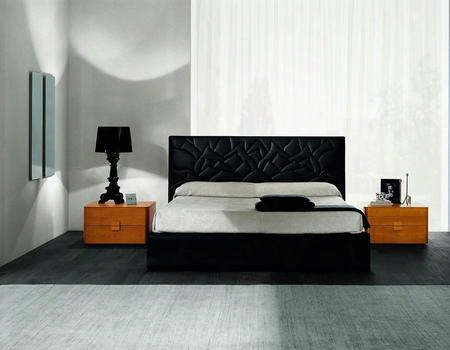 Vgsmloto-black Sma Loto Bed - Black Eco-leather - Made In
