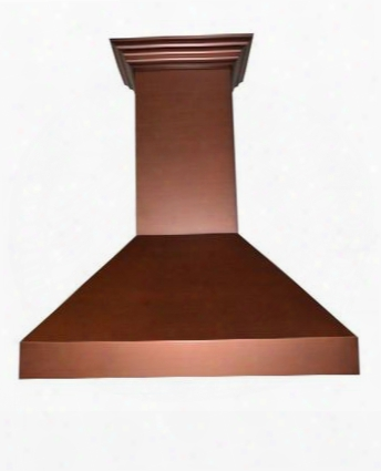 "48"" Designer Series Copper Wall Range Hood With 6"" Outlet 7 Layer Copper Finish 2 Led Lights Speed/timer Panel With Lc 4 Speeds"