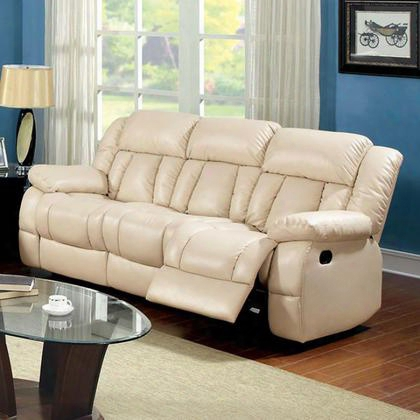 Barbado Cm6827sf Sofa With Transitional Style Recliners Plush Cushions Bonded Leather Match In