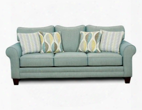 Brubeck Sm8140-sf Sofa With Transitional Style Rolled Arms Accent Pillows T-shape Back Pillow Cushions In Soft