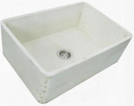 Fcfs3020s-shabbystraw 30-inch Farmhouse Fireclay Sink With Shabby Straw