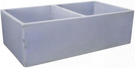 Fcfs3318d-shabbysugar Double Bowl Farmhouse Fireclay Sink With Shabby Sugar