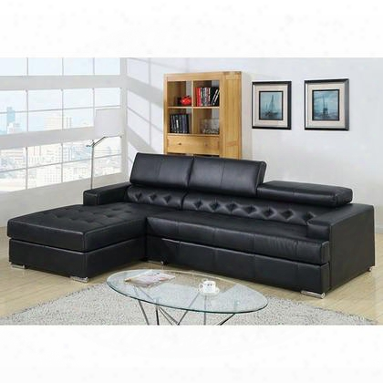 Floria Cm6122bk-pk Sectional With Contemporary Style T-cushion Seating Optional Consoles With Speaker Or Storage Pneumatic Gas Lift Headrests In