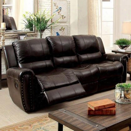 Foxboro Cm6909sf Sofa With Transitional Style Recliners Plush Cushions Nailhead Trim In