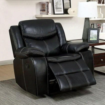 Gatria Cm6981-ch Recliner With Transitional Style Double Stithcing Plush Cushons Recliners In