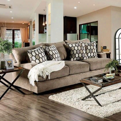 Glynis Sm1275-sf Sofa With Transitional Style Premium Velvet Fabric Modern English-arm Style High-density Foam Cushions In
