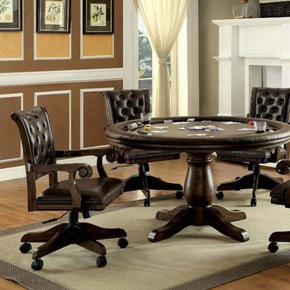 Kalia Cm-gm347t-table Game Table With Contemporary Style Inter-changeable Design Pedestal Base Built-in Cup Holders In