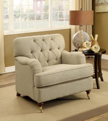 Laney Cm6863-ch Chair With Traditional Style Deep Button Tufting Modern English Arm Style T-cushion Seating In
