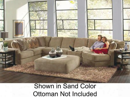 "Malibu Collection 3239-62-30-96-2668-44/2693-44/2694-44 188"" 3-piece Sectional With Left Arm Facing Section With Corner Armless Sofa And Right Arj Facing"
