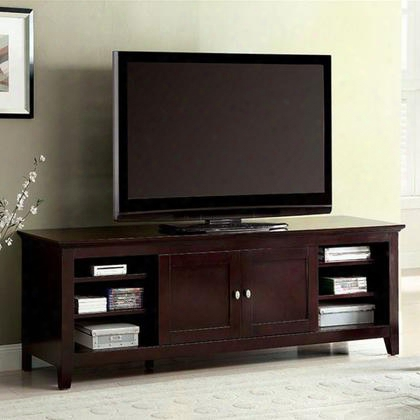 "Maris Cm5331-tv 72"" Tv Stand With Contemporary Style Fits Up To 72 Tv Sliding Cabinet Doors Storage Shelves In Dark"