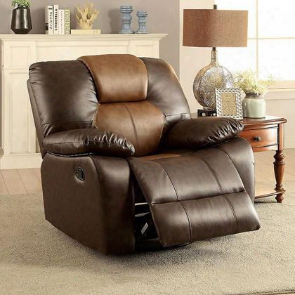 Moira Cm-rc6836gy Glider Recliner With Transitional Style Glider Recliner Plush Cushions Flannelette Fabric In