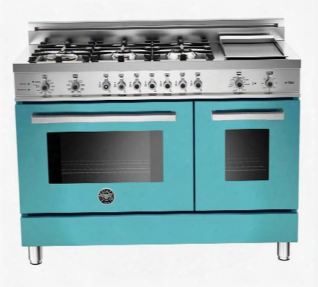"Pro486gdfsazlp 48"" Liquid Propane Dual Fuel Range With 6 Sealed Brass Burners 18 000 Btus Dual-ring Power Burner Self-cleaning Electric Convection Oven And"