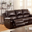 Davenport CM6327-SF Motion Sofa with Transitional Style Recliners Plush Cushions Top Grain Leather Match in Rustic Dark