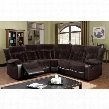 Hampshire CM6809-SECTIONAL Sectional with Transitional Style Recliner Plush Cushions Champion Fabric and Leatherette in