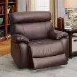 Myrtle CM6193-CH-XL Glider Recliner with Transitional Style Transitional Style Top Grain Leather Match Brown in