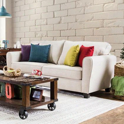Tralee Sm3056-sf Sofa With Contemporary Style Welt Trim High-density Foam Cushions Pillows Included In
