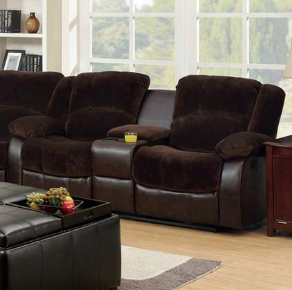 Winchester Cm6556cp-l-ct Love Seat With Transitional Style Recliners Plush Cushions Champion And Leatherette In