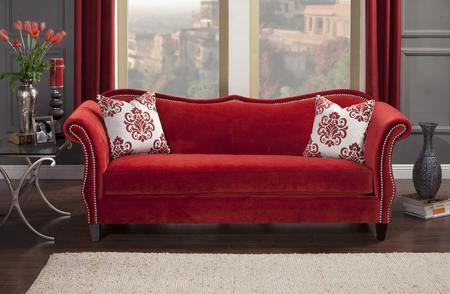 Zaffiro Sm2232-sf Sofa In Ruby