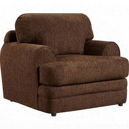 "Caliber Series 4651caliberwalnut-gg 42"" Exceptional Designs Caliber Chair With Loose Seat And Back Cushion In Walnut Chenille"
