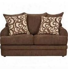 "Caliber Series 4652caliberwalnut-gg 64"" Exceptional Designs Caliber Loveseat With Loose Seat And Back Cushions In Walnut Chenille"