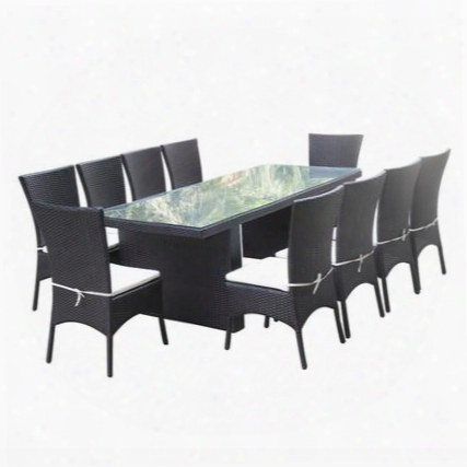 Fmi10079-black Rattano Outdoor Dining Set