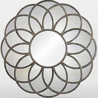 Mt1392 40x40 Flora With Metal Frame In Antique Silver