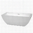 WCBTK150567 67 in. Center Drain Soaking Tub in White with Chrome