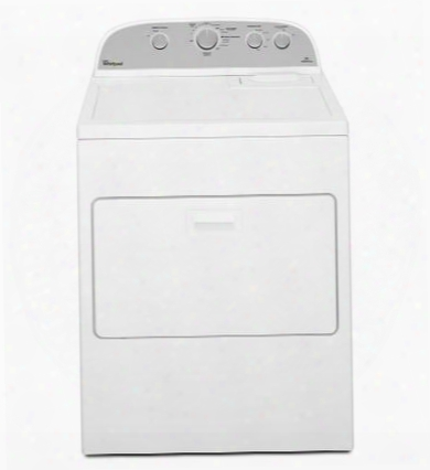 """Wed4915ew 29"""" Top Load Electric Dryer With 7.0 Cu. Ft. Capacity 12 Dryer Cycles Accudry Sensor Drying System Wrinkle Shield Option Cool Down Cycle"""