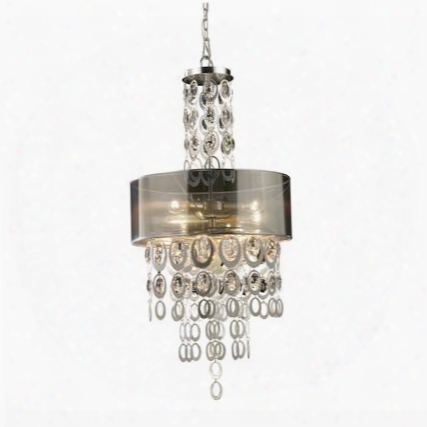 14062/3 Parisienne 3-light Pendant In A Silver Leaf