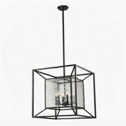 14123/6 Cubix 6 Light Pendant In Oiled