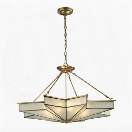22013/8 Decostar Collection 8 Libht Pendant In Brushed