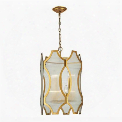 31467/3+3 Benicia Collection 3+3 Light Pendant In Antique Gold