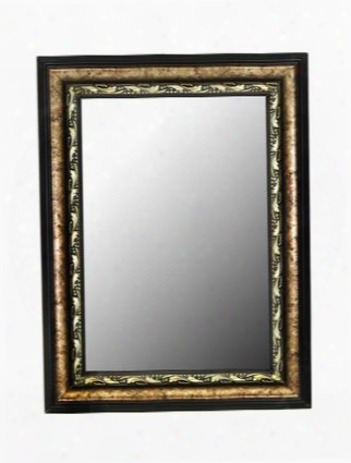 "332709 Reflections 58"" X 85"" Constantine Silver Scroll Black Trim Wall Mirror With"