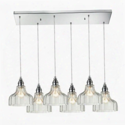 46018/6rc Danica 6 Light Pendant In Polished