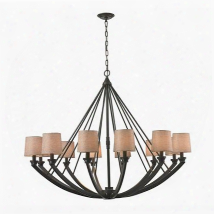 63075/12 Morrison 12 Light Chandelier In Oil Rubbed