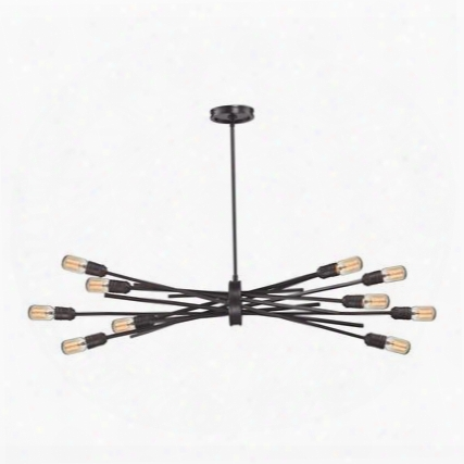 66912/10 Xenia 10 Light Chandelier In Oil Rubbed