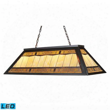 70113-4-led Tiffany Game Room Lighting 4-light Billiard/island Light In Tiffany Bronze Metal -