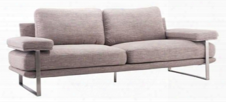"900626 Jonkoping Collection 89"" Sofa With Brushed Stainless Steel Frame And Polyblend Upholstery In"