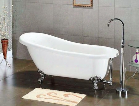 "Ast67-nh-orb Acrylic Slipper Bathtub 67"" X 30"" With No Faucet Drillings And Oil Rubbed Bronze"