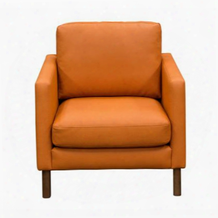 "Keppel Kepplechhspu 38"" Accent Chair With Loose Seat Cushion Angled Light Almond Wood Leg And Leatherette Upholstery In Hawaiian Sunset"