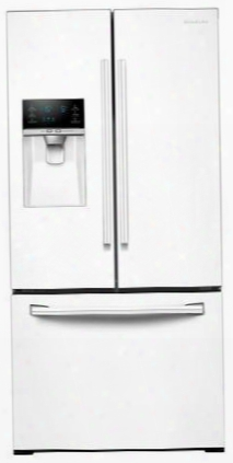 "Rf26j7500ww 33"" Wide 26 Cu. Ft. Capacity 3-door French Door Refrigerator With Coolselect Pantry Twin Cooling Plus And Ice Master Space-saving Design In"